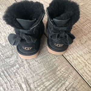 Baby Black Uggs Size 6